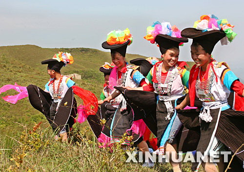 Hmong women in national costume